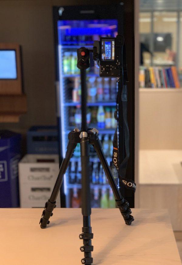 Die Kamera registriert das herausgenommene Getränk