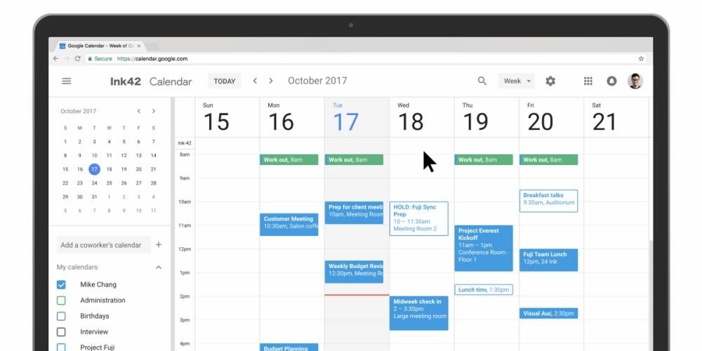 Website Creator mit Kalender