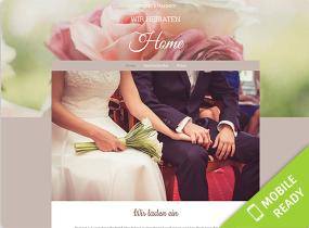 Vorlage Hochzeitshomepage