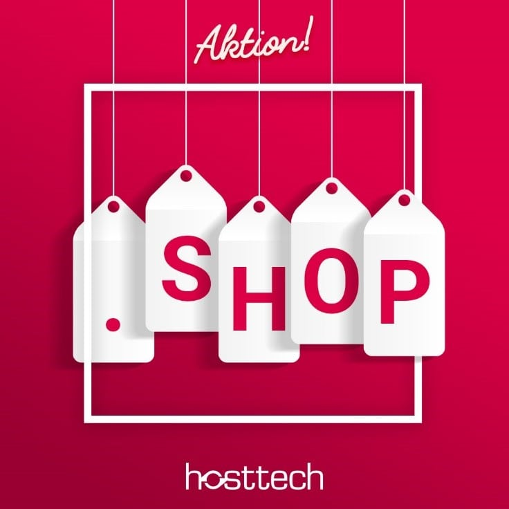 .shop Aktion bei hosttech